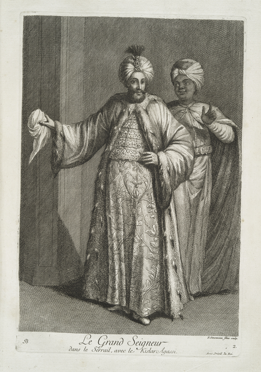 Fascinating Historical Picture of Sultan of the Turks Ahmed III in 1714