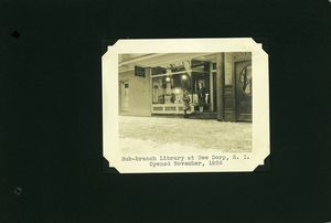 Sub-branch library at New Dorp, S.I.  Opened November, 1926