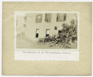 The dooryard of the Williamsbridge Library