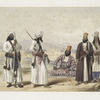Dadur : Hajee Ebrahim, commandant of the Bolan rangers, and men of the Brahoee tribe