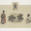 Exterior of the tomb of Sultan Mahmood, Guznee; Abdool Rusheed Khan; Yacoob Beg, Toorkumun, Ambassador from Khiva to Cabul