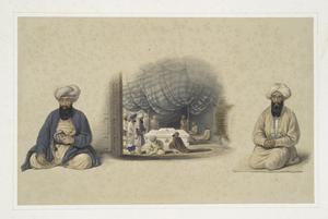 Interior of the tomb of Sultan Mahmood, Guznee; Khan Sheereen Khan, chief of the Juwansheer Kuzzilbashos; Hajee Khan, Kauker