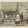 Cabul : a fulloodeh stall, with Huzzareh's carrying snow, &c., to market