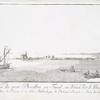 Vue du petit Pharillon, ou Fanal, au Vieux Port d'Aléxandrie  (a. Petit Pharillon; b. Ruines de la célébre Bibliothéque de Ptolomée Evergéte; c. Pointe du chateau de Bokkier).