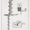 Plan et Coupe du Puits de Joseph au grand Caire.