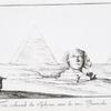 Tête colossale du Sphynx, avec les trois Pyramides.