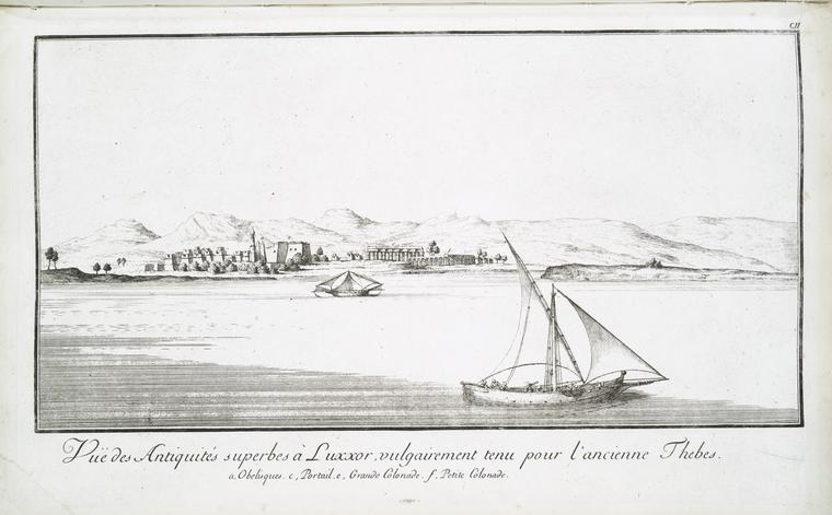Fascinating Historical Picture of Temple of Luxor in 1780