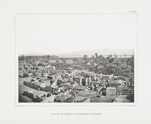 Village de Karnac et montagne funéraire.