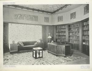 Cabinet de travail, Paul Follot, décorateur, édité par l'Atelier Pomone