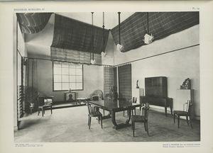 Salle à manger dans une habitation coloniale, Pierre Chareau, décorateur