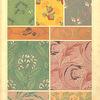 Nine textile designs