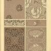 [Six textile designs.]