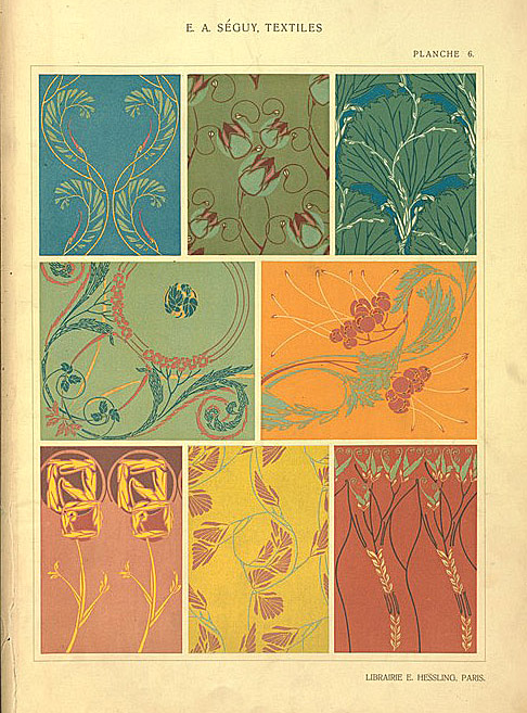 [Eight textile designs.]