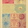 Seven textile designs
