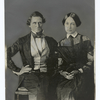 Jefferson Davis, 1808-89, at the age of thirty-seven, with his bride, Varina Howell.