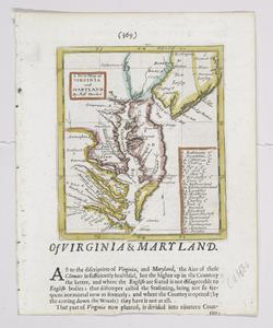 A new map of Virginia and Maryland / by Robt. Morden.