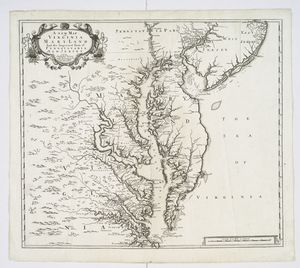 A new map of Virginia, Mary-land and the improved parts of Penn-sylvania & New Jersey.