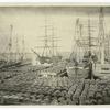 Wharf scene, 1870.
