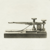 Morse telegraph key, first used about 1844.
