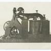 Model of original Morse telegraphic recording receiver.