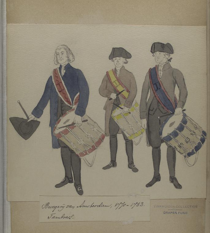 Burgerij van Amsterdam, 1770-1783: Tamboers.