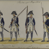 Bataafsche Republiek. Bataillon Linie Infanterie. [numbered 16 to 19].