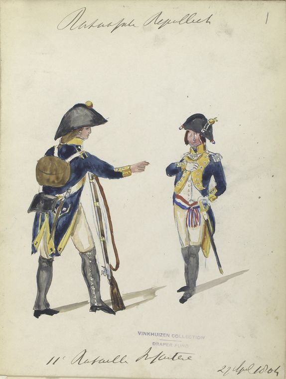 Bataafsche Republiek. 11-o Bataillon Infanterie. 22 April, 1804