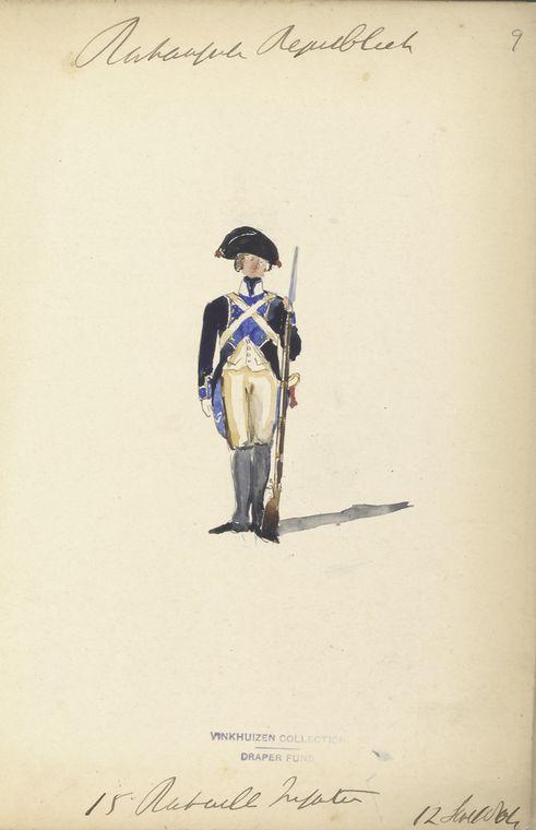 Bataafsche Republiek. 15 Bataillon Infanterie. 12 September, 1804