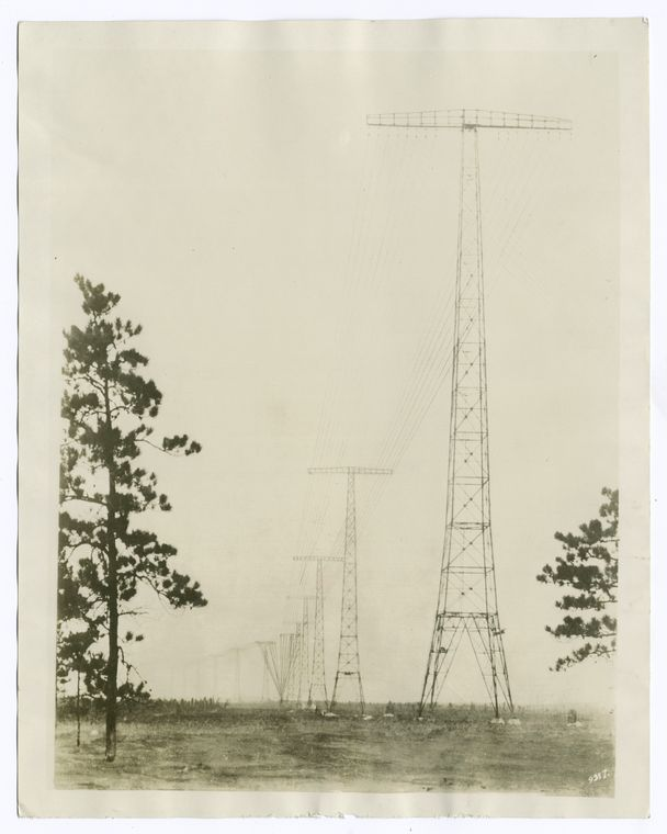 Radio Central towers at Rocky Point, L.I.