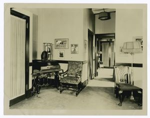 Reception room of station WJZ, Radio Corp. of America, N.Y.C.