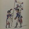 Bataafsche Republiek. 1e [Eerst] Bataljon. 1e [Eerst] Halve Brigade. Cadet met del Vaandel e Grenadier.
