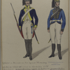 Grenadier en Kanonnier van het regiment Wurtemberg.