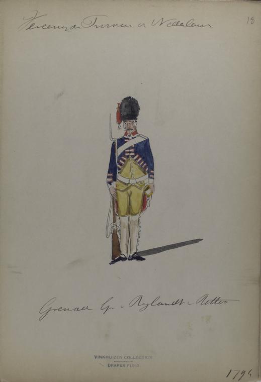 Vereenigde Provincie a Nederland, Grenadier G[...] Rylandt Retter