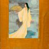 Painting depicting Ruth St. Denis as a Japanese poetess of the 13th Century.]