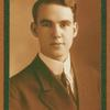 Portrait of Ted Shawn as a college freshman with small picture of brother who died at the age of sixteen.