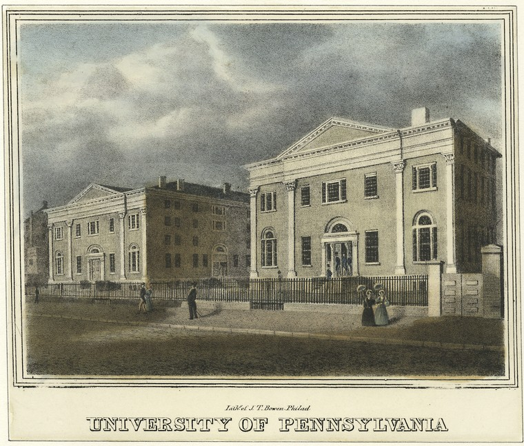 This is What University of Pennsylvania Looked Like  in 1830