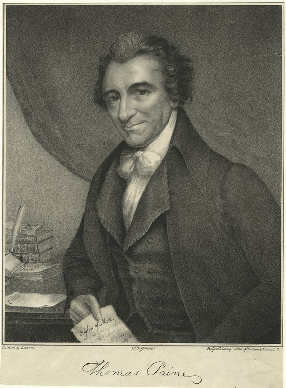 This is What Thomas Paine Looked Like  in 1850