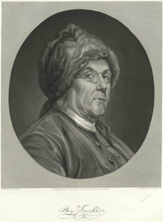 This is What Benjamin Franklin Looked Like  in 1856