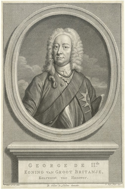 Fascinating Historical Picture of King of Great Britain George II in 1752