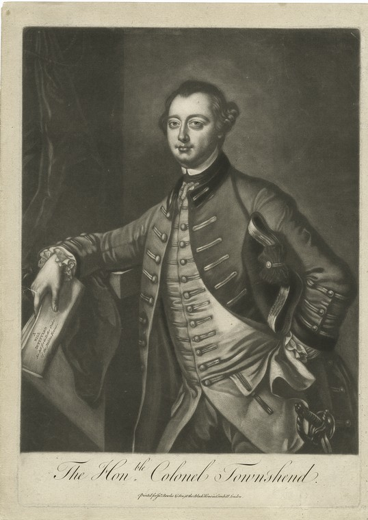 Fascinating Historical Picture of George Townshend Townshend in 1760