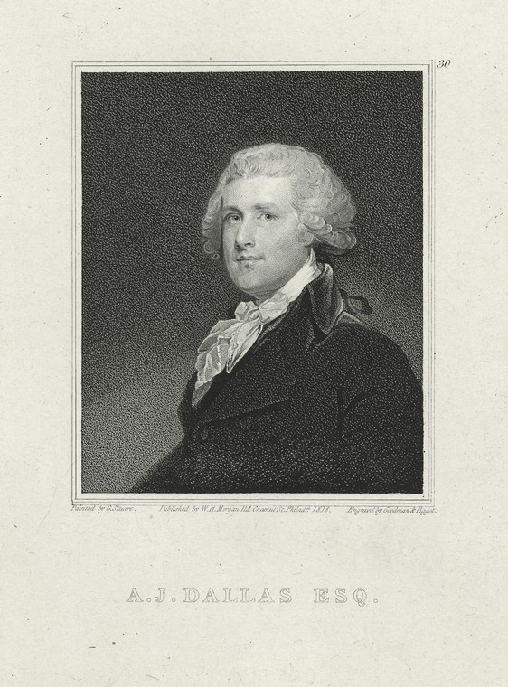 Fascinating Historical Picture of Alexander James Dallas in 1818