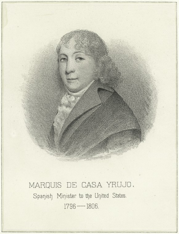 This is What Max Rosenthal and Marquis de Casa Yrujo Spanish Minister to the United States 1796-1806 Looked Like  in 1885
