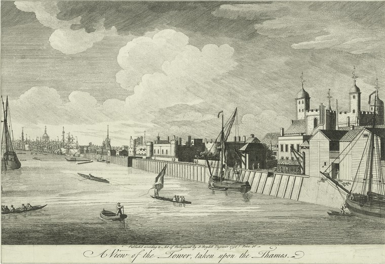 Fascinating Historical Picture of Tower of London in 1751