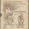 Metropolitan Opera House program featuring Loie Fuller (damaged copy)