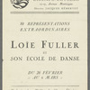Loie Fuller et son Ecole de Dance - Theatre des Champs-Elysees (program)