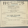 La Loie Fuller - Boston Theatre (loose program excerpts)