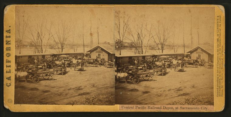 This is What Central Pacific Railroad Company Looked Like  in 1865