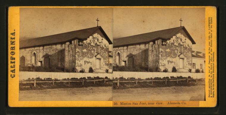 This is What Mission San Jose Looked Like  in 1863