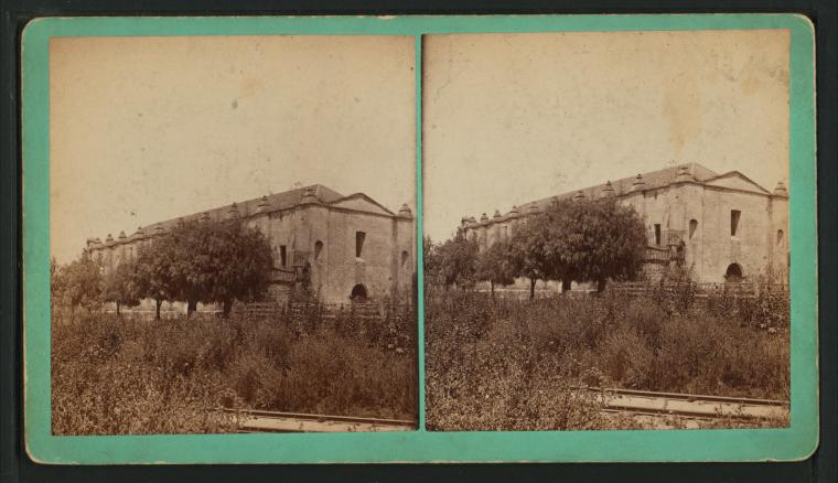 Fascinating Historical Picture of Mission San Gabriel Arcangel in 1885