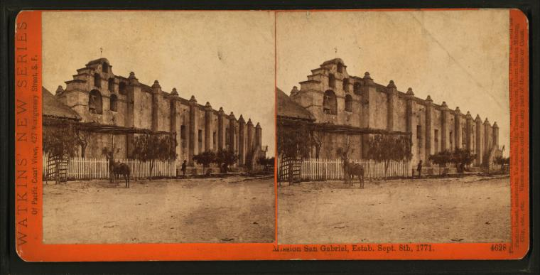Fascinating Historical Picture of Mission San Gabriel Arcangel in 1880